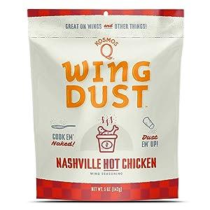 Kosmos Q Nashville HOT Wing Dust | Chicken Wing Seasoning | Dry BBQ Rub Spice | 5 oz. Bag