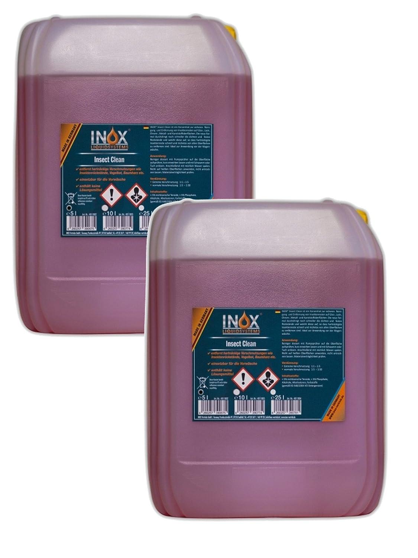 Inox Insect Clean Eliminador de insectos concentrado, 2 x 5L –  Limpiador para el cuidado Vehí culo 2x 5L-Limpiador para el cuidado Vehículo