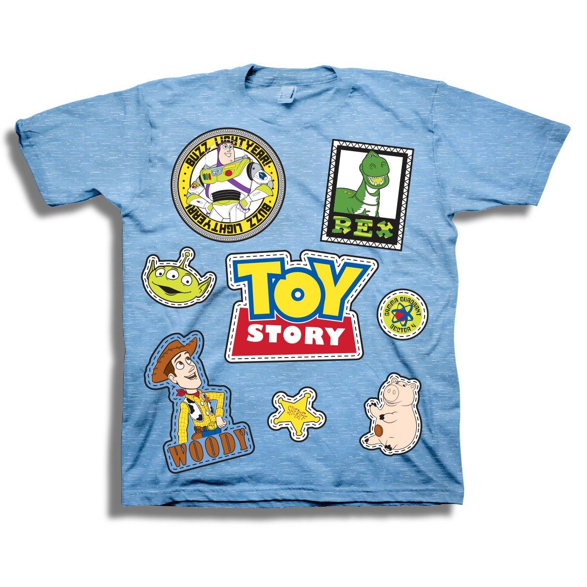 Disney Pixar Toy Story Shirt - Buzz Lightyear and Sheriff Woody Tee - Toy Story T-Shirt (4T)