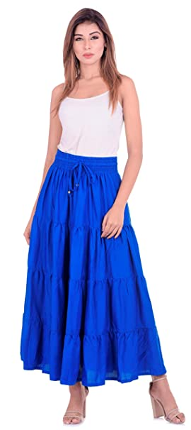 da168bd580c NATHAWAT Women s Plus Size Full Length Skirt Indo Western Wear Traditional  Skirts Rayon Fabric.  Amazon.in  Clothing   Accessories