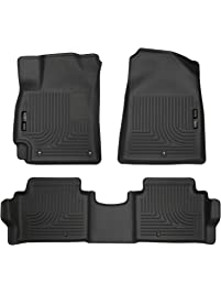 Husky Liners 98871 Black Front & 2nd Seat Floor Liners Fits 17-19 Hyundai Elantra