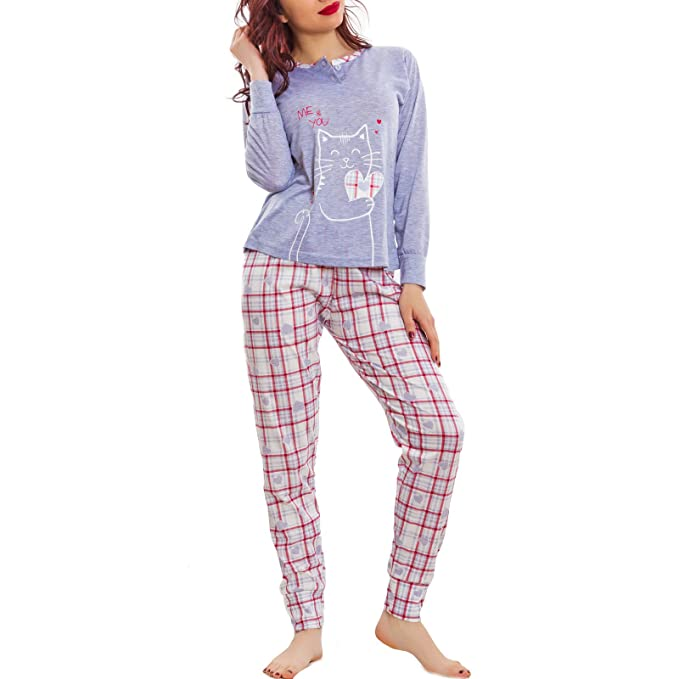 Toocool - Pijama - para Mujer Gris XL