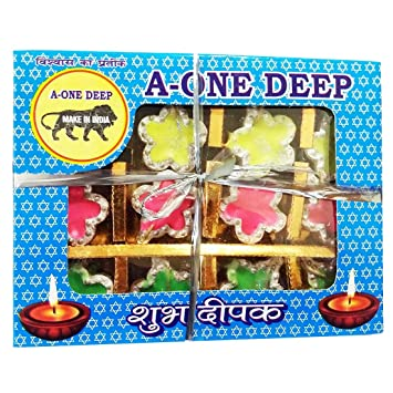 Buy Grasme Made In India Handmade A One Diyas Wax Filled Candles