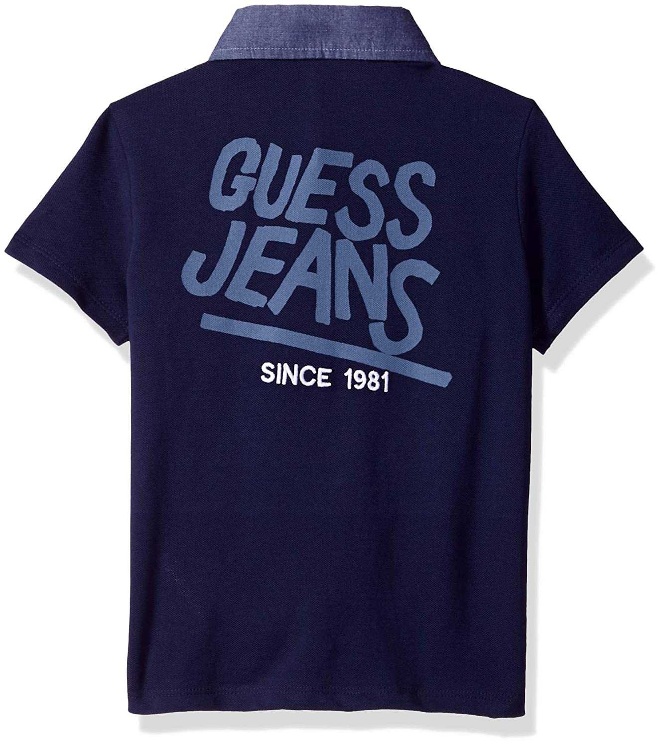 48f9d4075 Amazon.com  GUESS Boys  Short Sleeve Contrast Pocket Polo  Clothing
