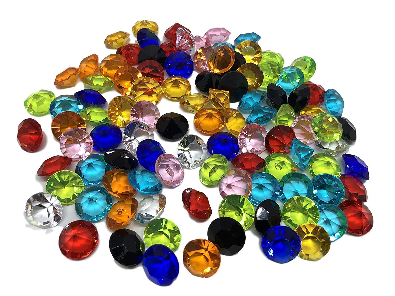 100pezzi 15mm grosse pietre colorate decorazione di pietre di diamanti brillanti strass acrilico pietre colorato trasparente trasparente cristallo fai da te gltzer gioielli di pietre pietre Strass decorare decorare diffusa decorazione da tavolo di Crysta