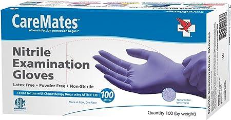 Amazon Com Caremates Nitrile Exam Powder Free Glove Medium 100 Count Health Personal Care