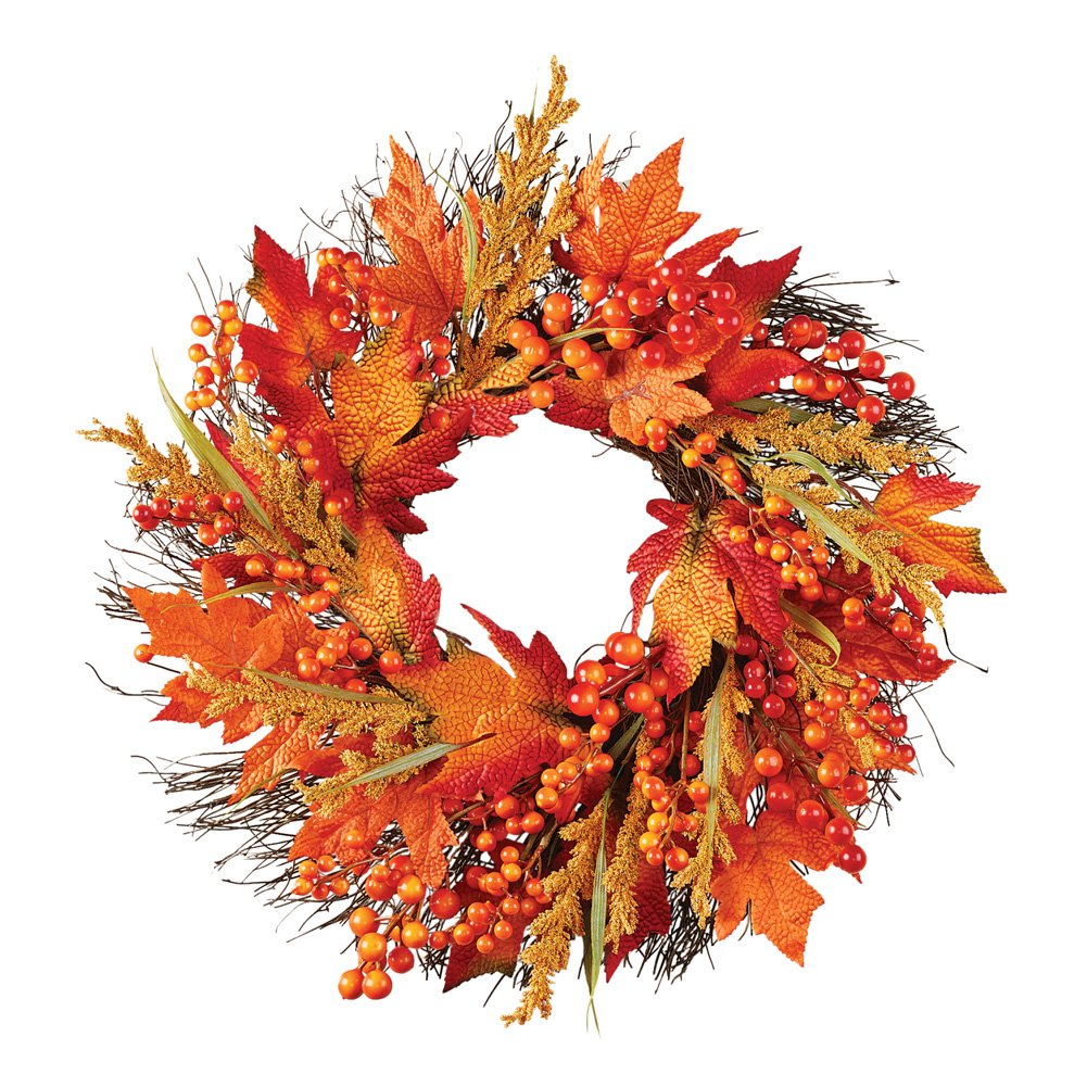CLEARANCE Autumn Fall Harvest Door Wreath Hanging Home ...