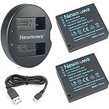 Newmowa DMW-BLE9/BLG10 互換バッテリー 2個+充電器 対応機種 DMW-BLE9, DMW-BLE9E, DMW-BLG10, Panasonic Lumix DMC-GF3 DMC-GF5 DMC-GF6 DMC-GX7 DMC-LX100 DC-LX100 II DC-GX9