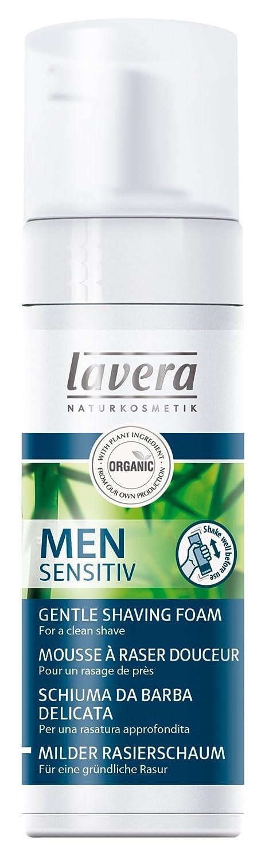 Lavera Men Sensitiv Espuma de Afeitar - aloe vera orgánico & nutritivo aceite de jojoba - vegano - cosméticos naturales 100% certificados - cuidado de la piel - 150 ml Laverana 104120