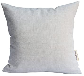 Amazon Com Tangdepot Heavy Lined Linen Cushion Cover Throw Pillow