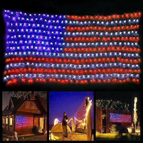 Merveilleux American Flag Light With 420 Super Bright LED,KAZOKU Waterproof Outdoor  Decor Garden Lights Path