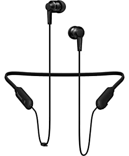 Pioneer SE-C7BT Neck Band Type Bluetooth Earphone (All Black) Audio Headphones at amazon