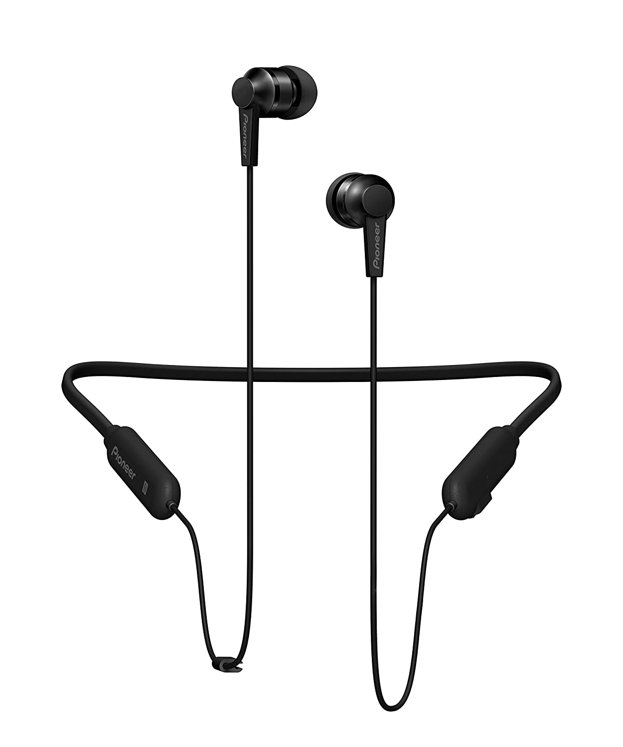 Pioneer SE-C7BT Neck Band Type Bluetooth Earphone (All Black)