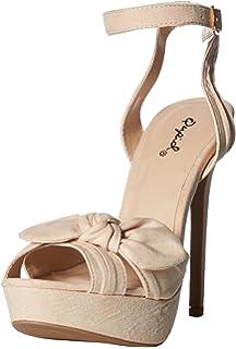 58a06f81c3d5 Qupid Women s Platform Sandal Heeled