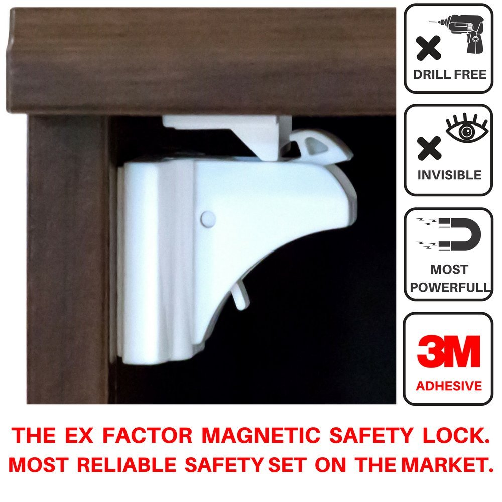 11 Pcs Baby & Child Proof Kit.(4+1key) Magnetic Cabinet & Drawer Locks For Ideal Home Safety.Get Extra Security With The 6 Bonus Better Buy Items.Self Sticking 3M Adhesive No Damage Easy Installation