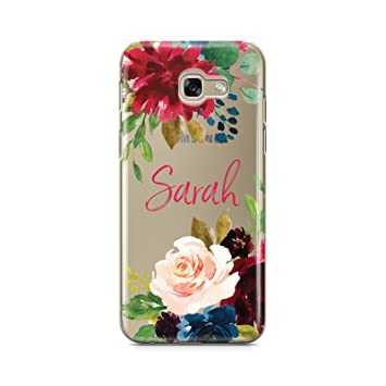 size 40 c75a4 9370f Dyefor PERSONALISED TRANSPARENT NAME & ROSES PHONE CASE FOR SAMSUNG GALAXY  A5 2017
