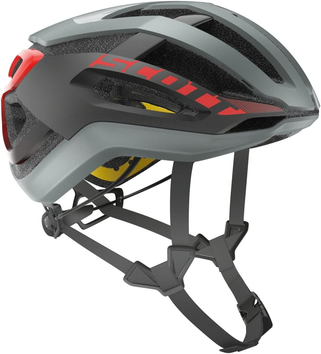Scott Centric Plus - Casco para bicicleta, color gris y rojo ...
