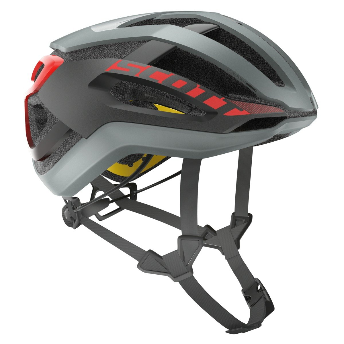 SCOTT(スコット) ヘルメット Helmet Centric PLUS grey/red M 2500231049007 グレー/レッド M   B071GLNL1D