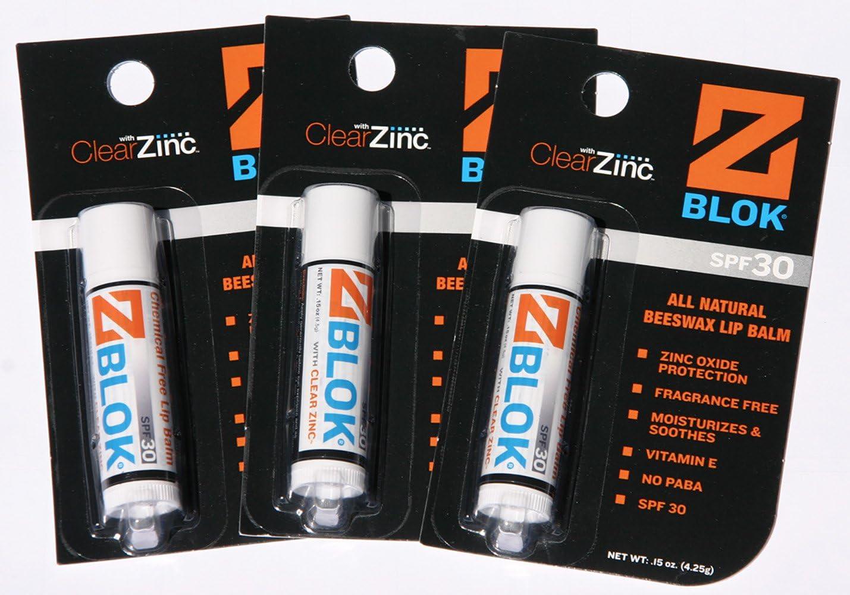 Z Blok Lip Balm Value Pak of 3