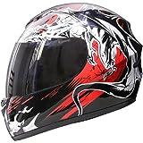 Leopard LEO-819 Dragon Full Face Motorbike Motorcycle Helmet M + Extra Dark Smoke Visor