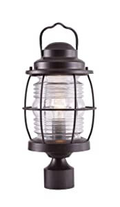Kenroy Home 90956GC  Beacon Post Lantern, Blackened Gilded Copper Finish