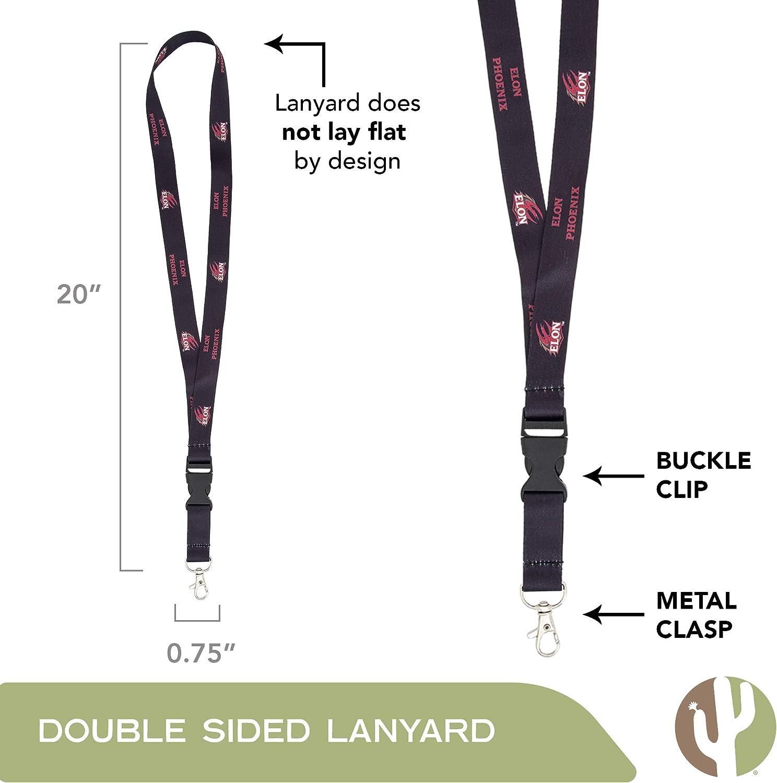 Elon University Phoenix NCAA Car Keys ID Badge Holder Lanyard Keychain Detachable Breakaway Snap Buckle