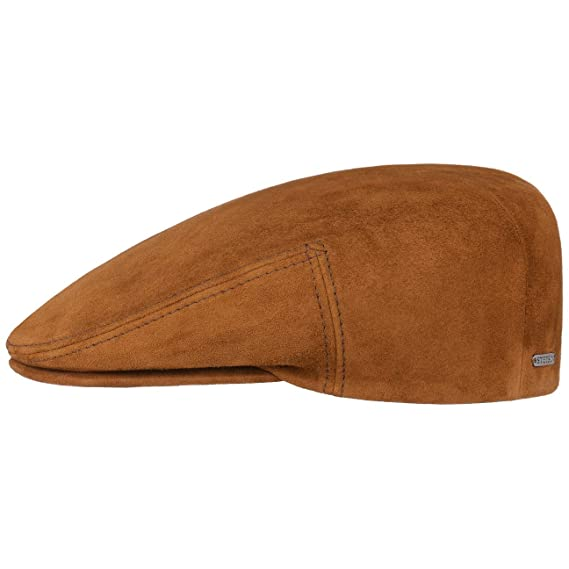 f1b3b918d9be68 Stetson Kent Goat Leather Flat Cap hat Ivy: Amazon.co.uk: Clothing