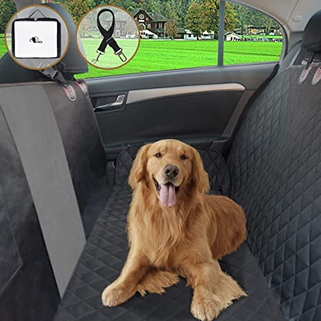 Magnificent Fruiteam Dog Car Seat Cover Waterproof Hammock Pet Backseat Protector With Mesh Viewing Windowside Flaps Nonslip Rear Seat Cover Washable Adjustable Frankydiablos Diy Chair Ideas Frankydiabloscom