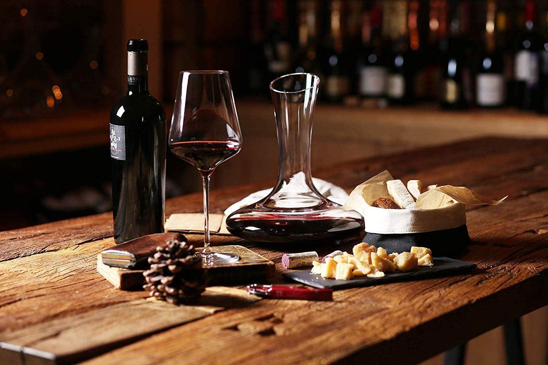 Red Wine Carafe Wine Gift in Gift Box Lehmann//Terrazas 100/% Hand Blown Crystal Glass