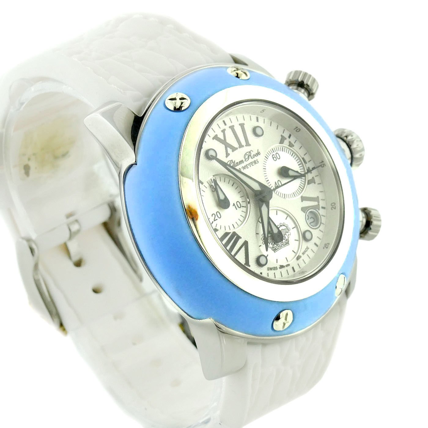 Glam Rock Women's GR30108AW Summer Collection Chronograph Blue Silicone Watch