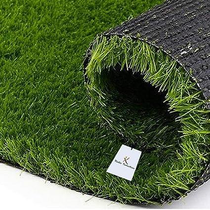 Kuber Industries Grass Door Mat - 24x15, Green