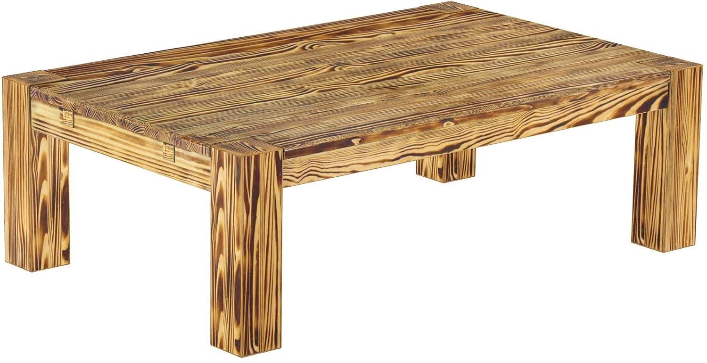 Brasilmöbel Couchtisch 'Rio Kanto' 120 x 73 73 73 x 55 cm, Pinie Bonito Massivholz, Farbton Brasil 7b7811