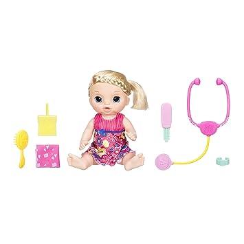f86532e12b Hasbro Baby Alive C0957100 - Baby Schnupfnäschen, interaktive Babypuppe
