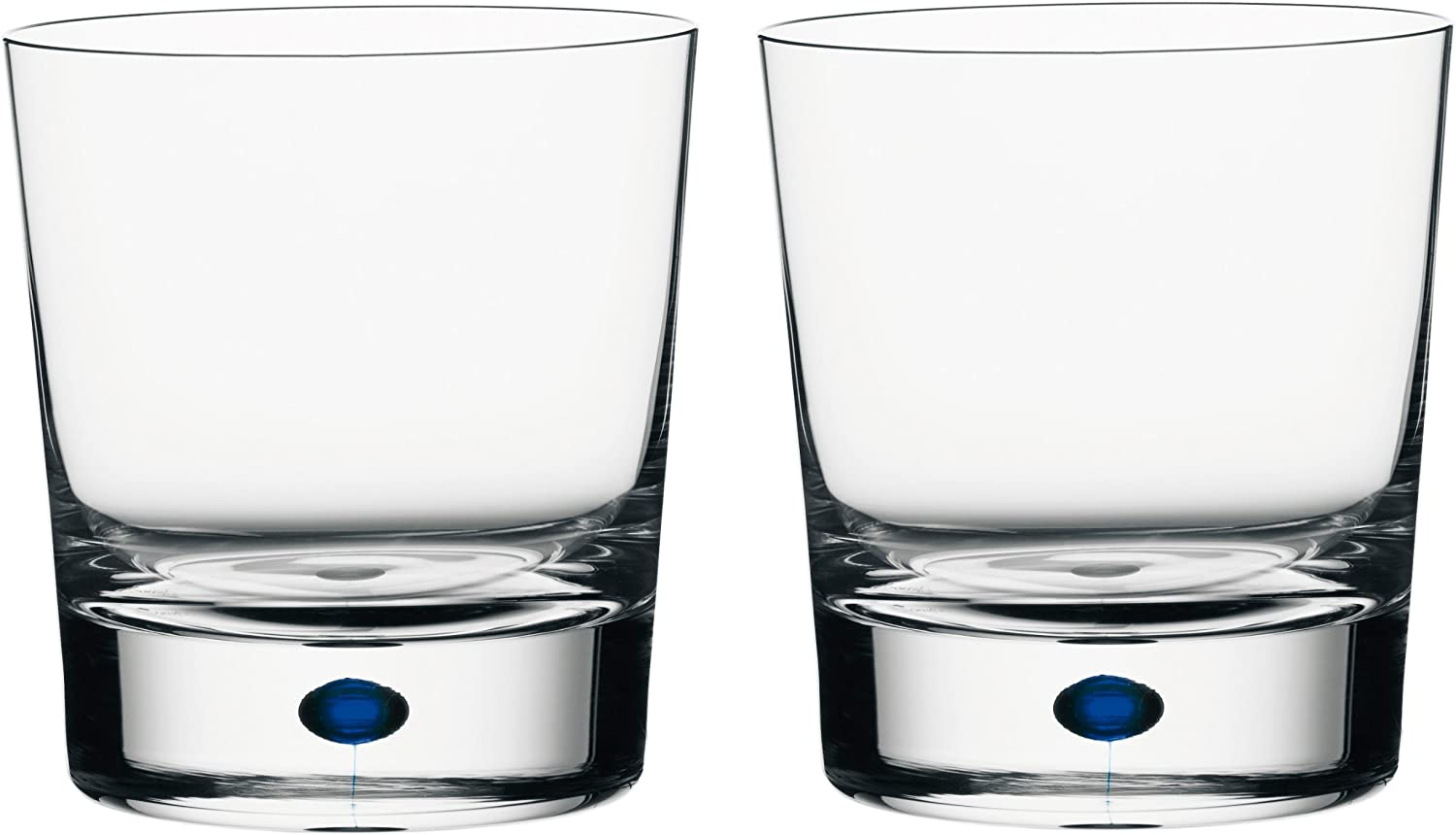Amazon Com Orrefors Intermezzo Blue 11 Ounce Double Old Fashioned Glass Set Of 2 Crystal Double Old Fashioned Glasses Old Fashioned Glasses