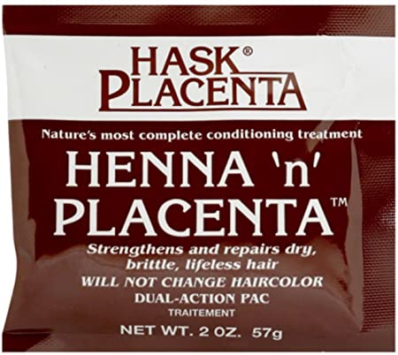 Hask Henna n Placenta Conditioning Treatment, 2 oz Pack of 11