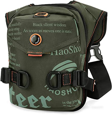 Eshow Waist Fanny Pack Drop Leg Bag Tactical Military Thigh Hip Outdoor Drop Leg Pouch for Men Women Hiking Riding Travel Cycling