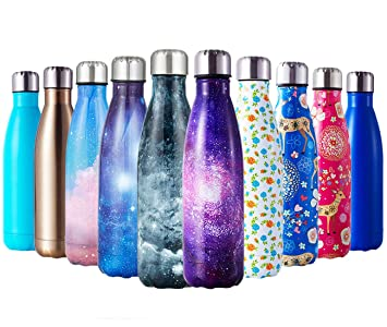 Amazon.com: HGDGears Botella de agua de acero inoxidable ...