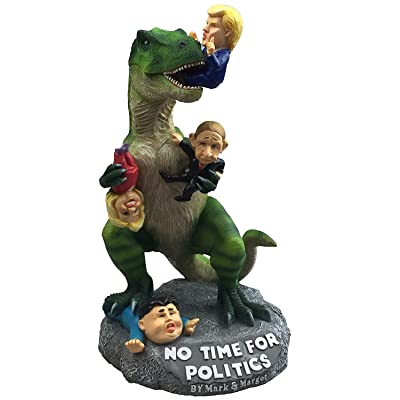 By Mark & Margot Garden Statue Donald Trump President Funny Décor - T-rex Dinosaur Enjoying Delicious Hillary Kim & Putin – Great Novelty Gag Gift –Best Indoor Outdoor Home Office Lawn or Patio : Garden & Outdoor