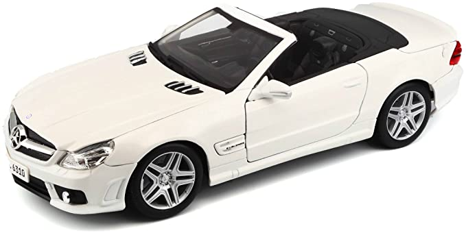 Maisto 1:18 Scale Mercedes Benz SL63 AMG Diecast Vehicle (Colors May Vary