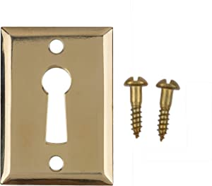 Heavy Stamped Brass Decorative Door Keyhole Cover   1-3/4