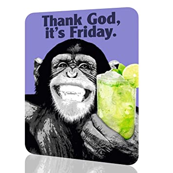 Amazoncom Metal Sign Funny Monkey Thank God Its Friday Home
