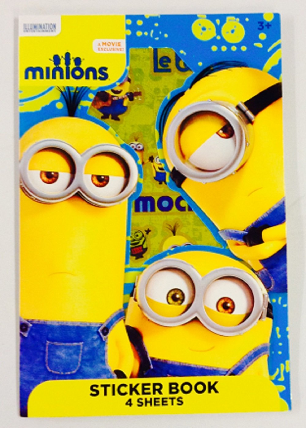 This Bundle Includes Movie and a Box of 24 Crayola Crayons Bendon MINION Coloring and Activity Book Jumbo 64 Pages Filled with Pictures Puzzles and Games