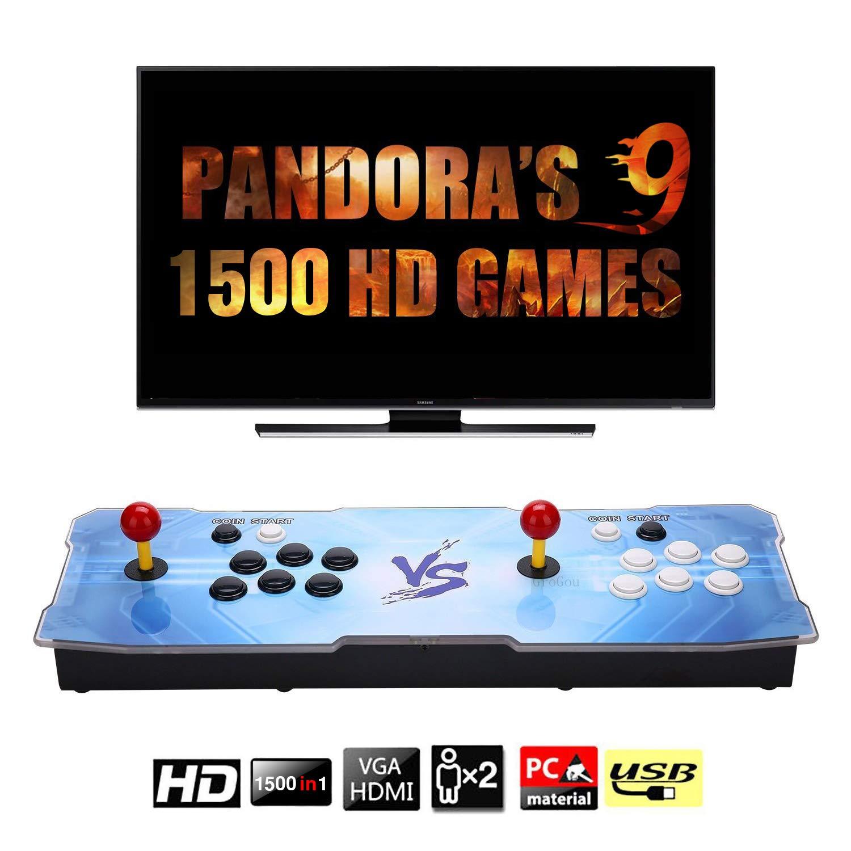 J-Deal [1500 HD Arcade Games Arcade Video Game Console 1500 Retro Games Pandora's Box 9 Arcade Machine Double Arcade Joystick Built-in Speaker 1280x720 Full HD Mini Arcade