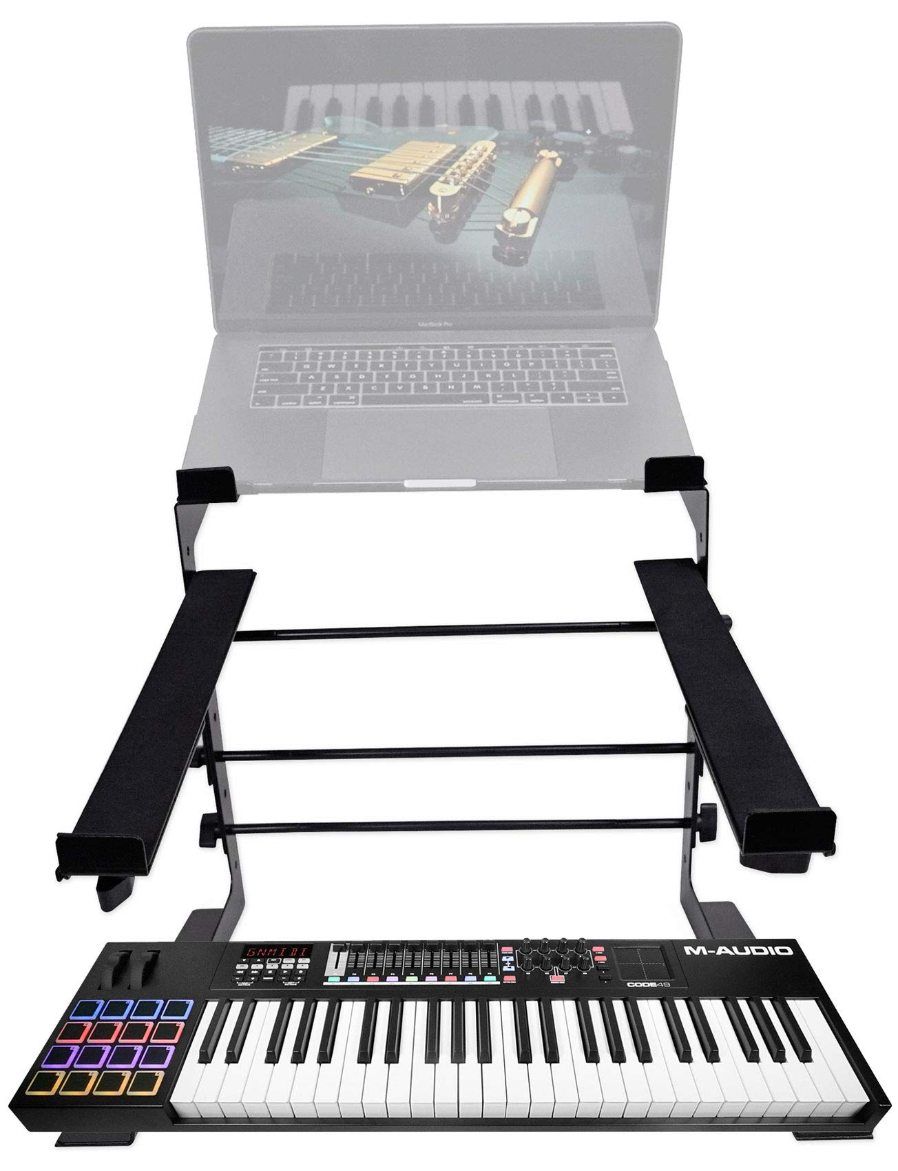 M-Audio Code 49-Key USB MIDI Keyboard Controller+Dual Stand CODE49 by M-Audio