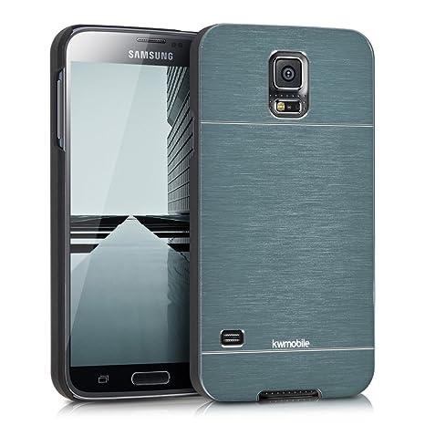 kwmobile Funda para Samsung Galaxy S5 / S5 Neo - Carcasa Protectora de [Aluminio] para móvil - Case [Trasero] [Antracita]