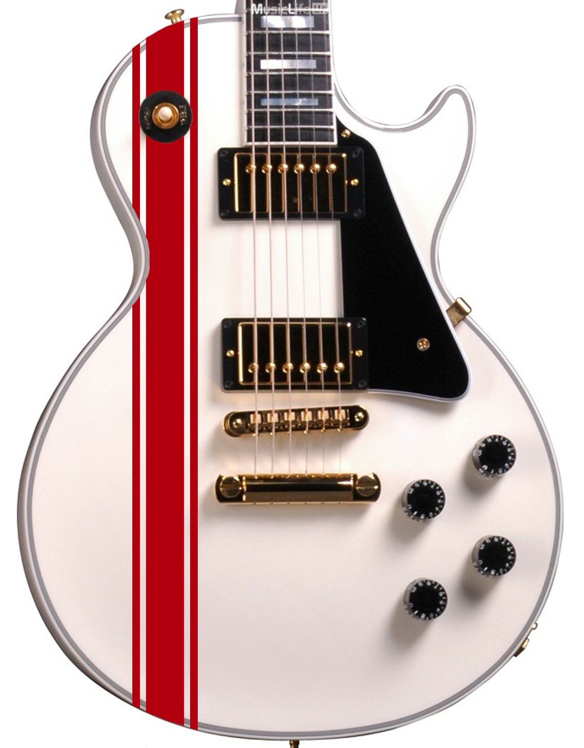 Designdivil Wall Art Paquete de Pegatinas Personalizadas para Guitarra o bajo, diseño de Rayas de Carreras, se Adapta a Todos los Guitarras, ...