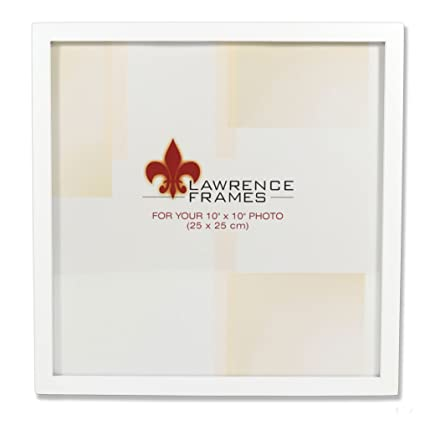 Amazon.com - Lawrence Frames 755810 White Wood Picture Frame, 10 by ...