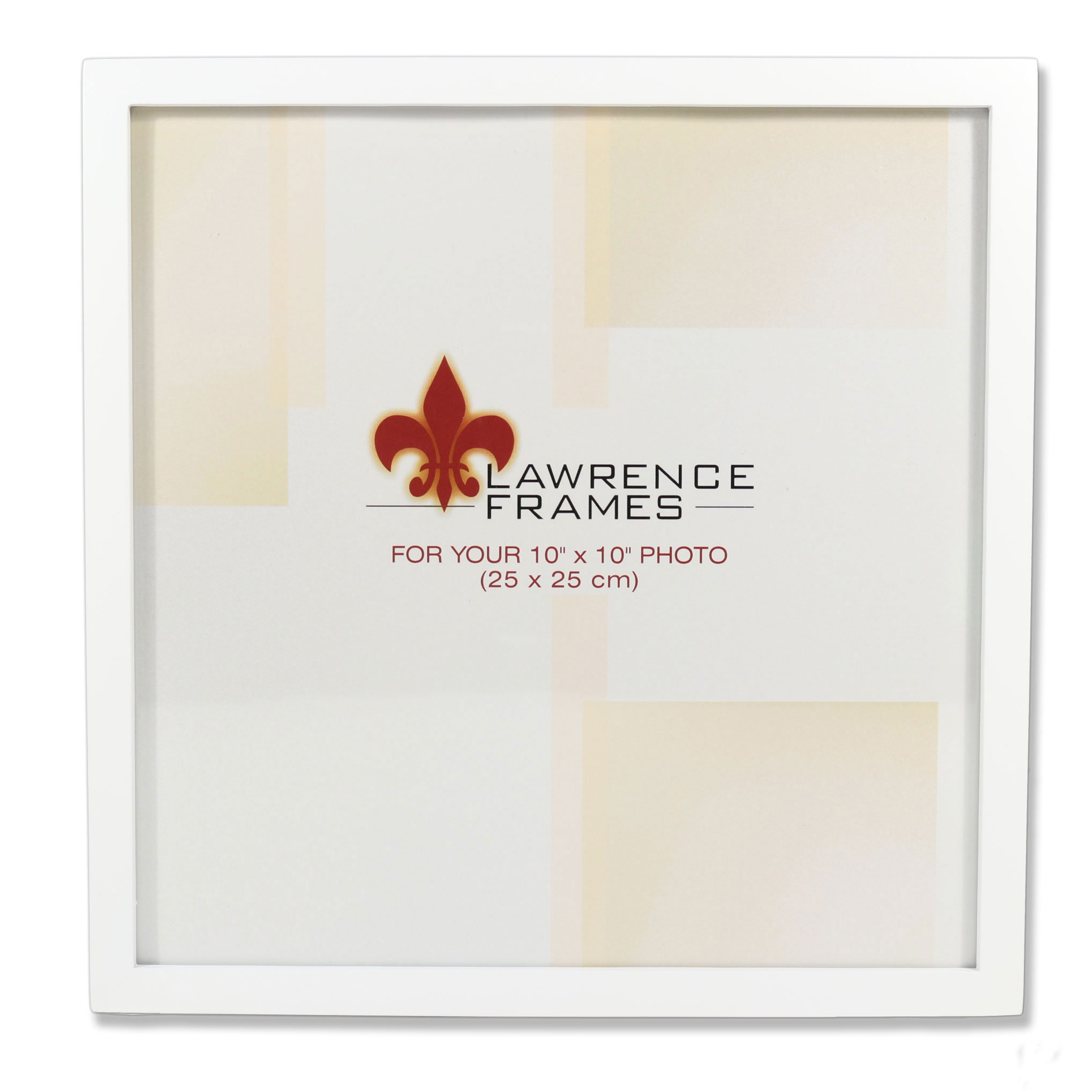 Lawrence Frames 755810 White Wood Picture Frame, 10 by 10-Inch