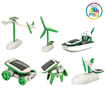 Buy smiles creation robot kits do it yourself 6 in 1 educational smiles creation robot kits do it yourself 6 in 1 educational solar kit solutioingenieria Image collections