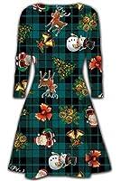 Kid's Swing Dress Girl's Christmas Xmas Flared Franki Santa Reindeer Rudolph Dress
